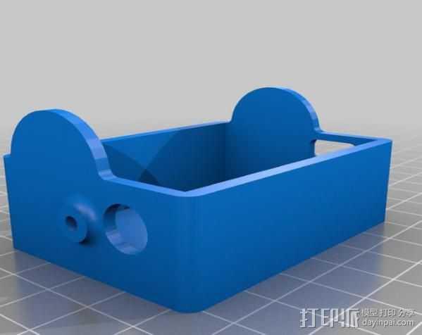 GoPro Hero3壳子 3D打印模型渲染图