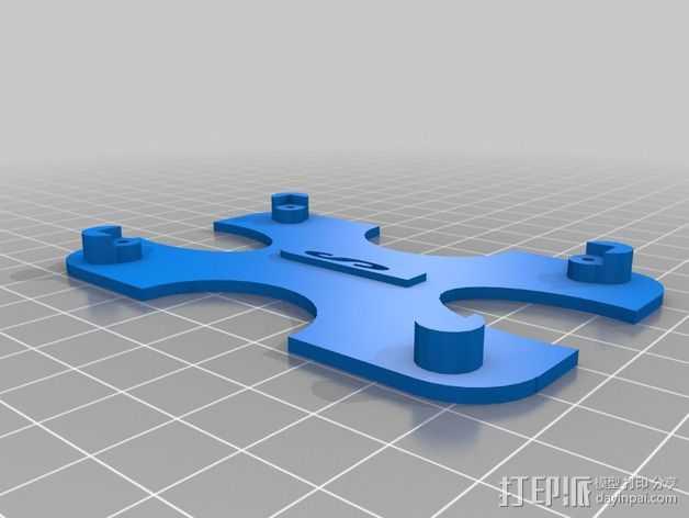 417 PCB适配器 3D打印模型渲染图