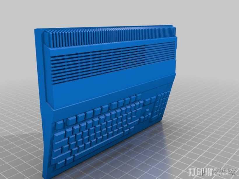 Amiga 500 电脑 3D打印模型渲染图