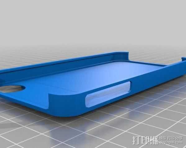 iPhone 4/4S手机壳 3D打印模型渲染图