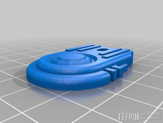 钥匙扣吊牌 3D打印模型渲染图