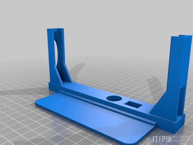 Galaxy Note 2 车载支架 3D打印模型渲染图