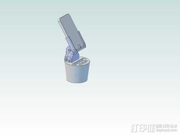 iPhone5杯子手机座 3D打印模型渲染图