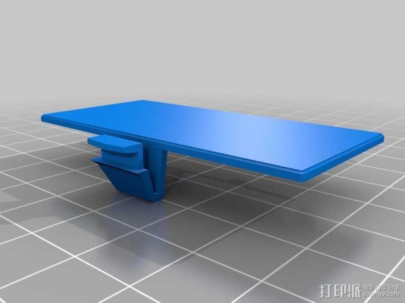 Gameboy电池盖 3D打印模型渲染图