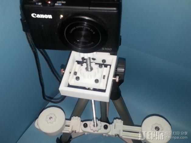 直流拍摄支架 3D打印模型渲染图