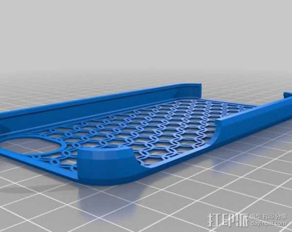 iPhone 4S手机壳 3D打印模型渲染图