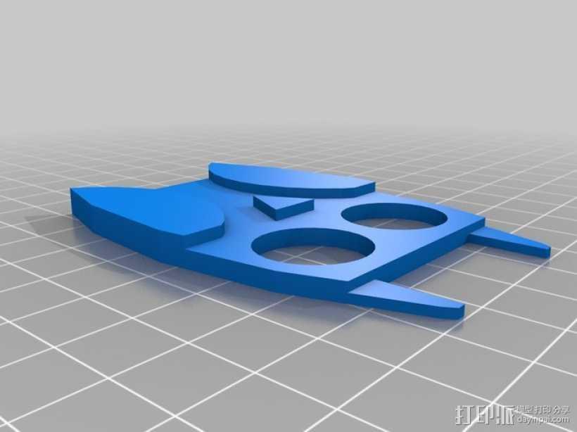 猫头鹰绕线器 3D打印模型渲染图