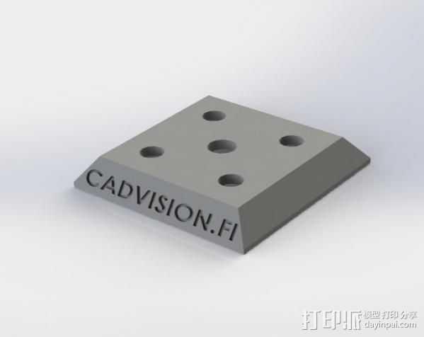 三角板适配器 3D打印模型渲染图