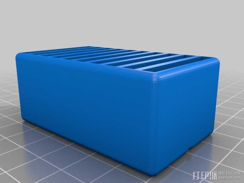 任天堂游戏机卡收纳盒 3D打印模型渲染图