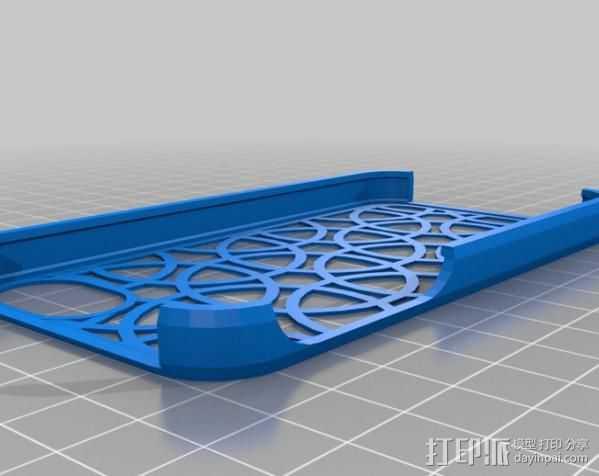 Iphone4手机壳 3D打印模型渲染图