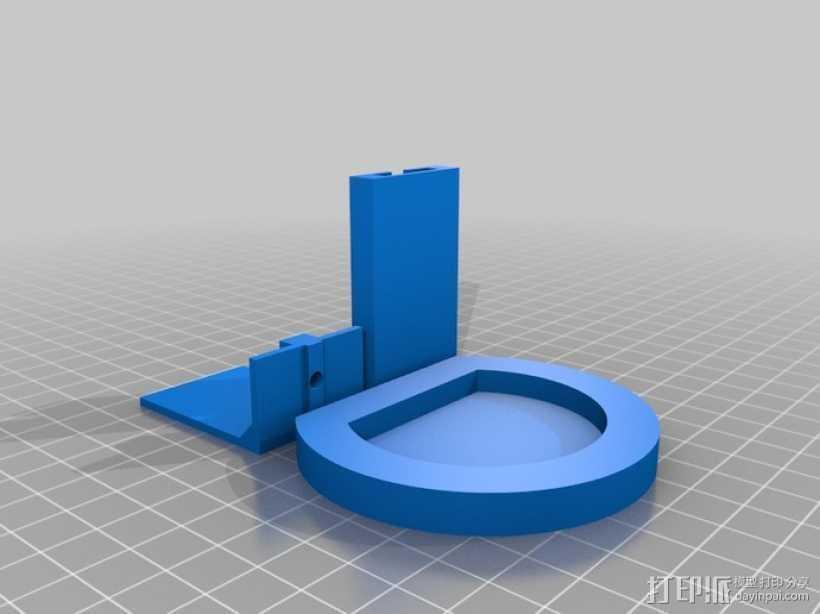 PS3 照相机底座 3D打印模型渲染图