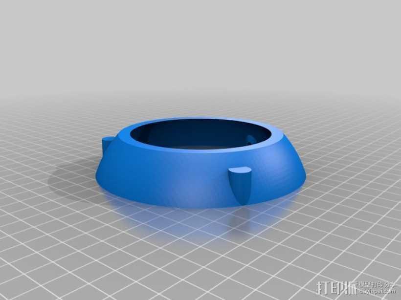 Iphone 4 充电手机座 3D打印模型渲染图