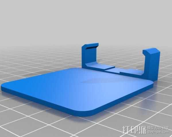 Sony Nex 闪光灯挡板 3D打印模型渲染图