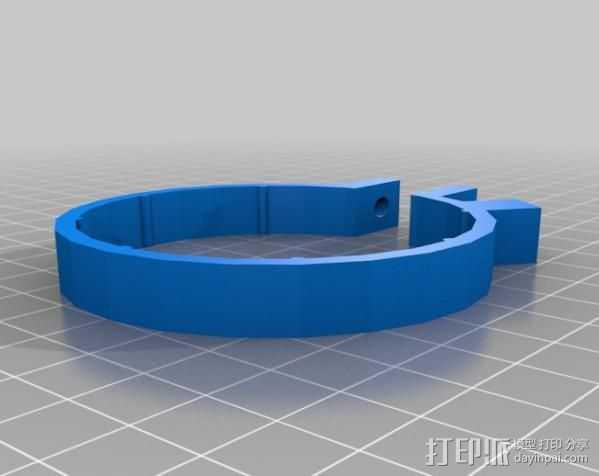 变焦操作杆 3D打印模型渲染图