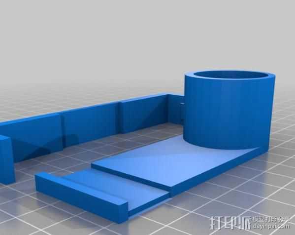 Galaxy Note 2放大器 3D打印模型渲染图