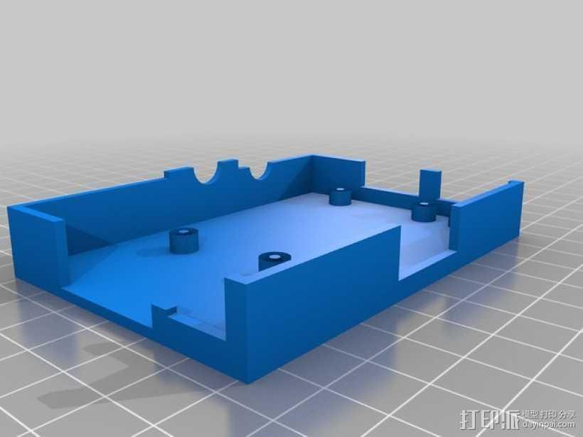 Raspberry Pi 相机保护壳 3D打印模型渲染图
