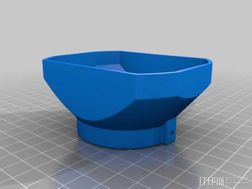 遮光罩 3D打印模型渲染图