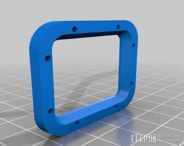 GoPro Hero 3加强镜头 3D打印模型渲染图
