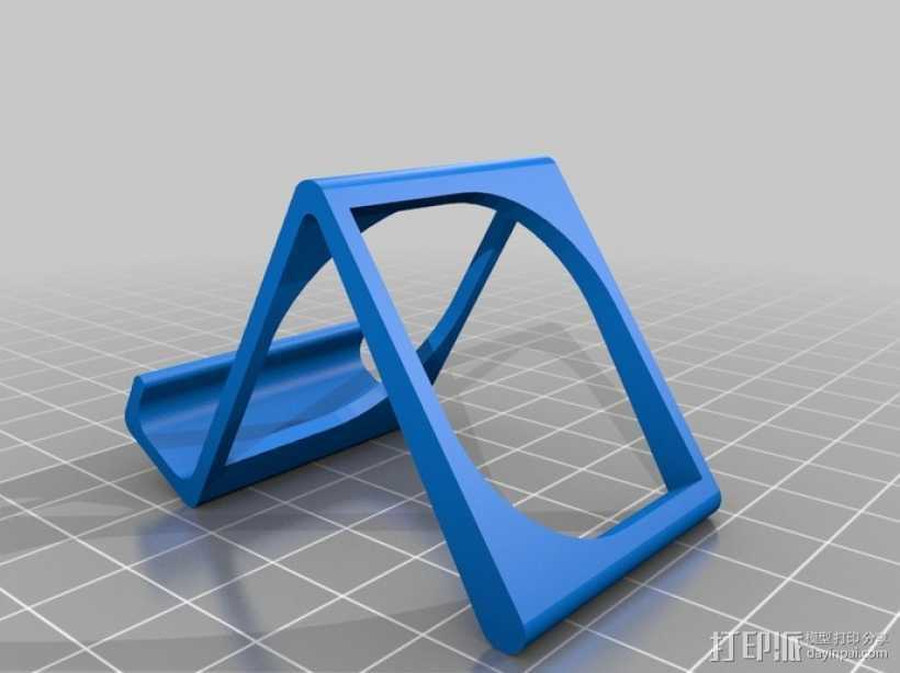 Galaxy SIII 手机座 3D打印模型渲染图