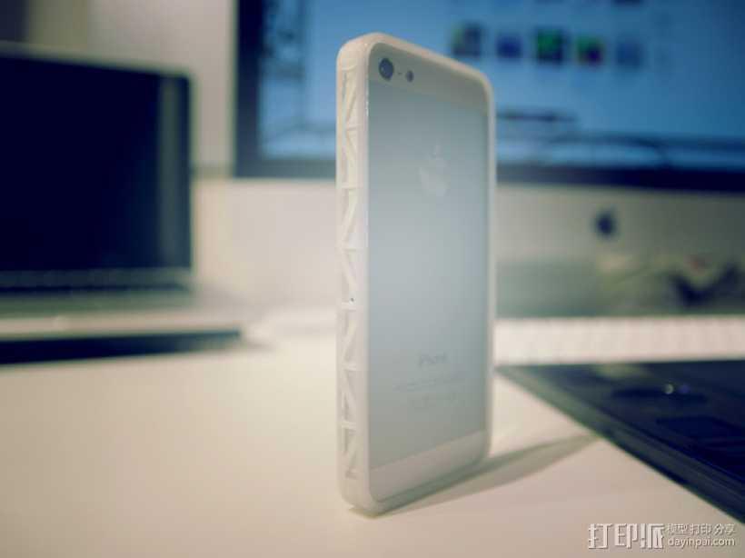 Iphone 5 手机壳 3D打印模型渲染图