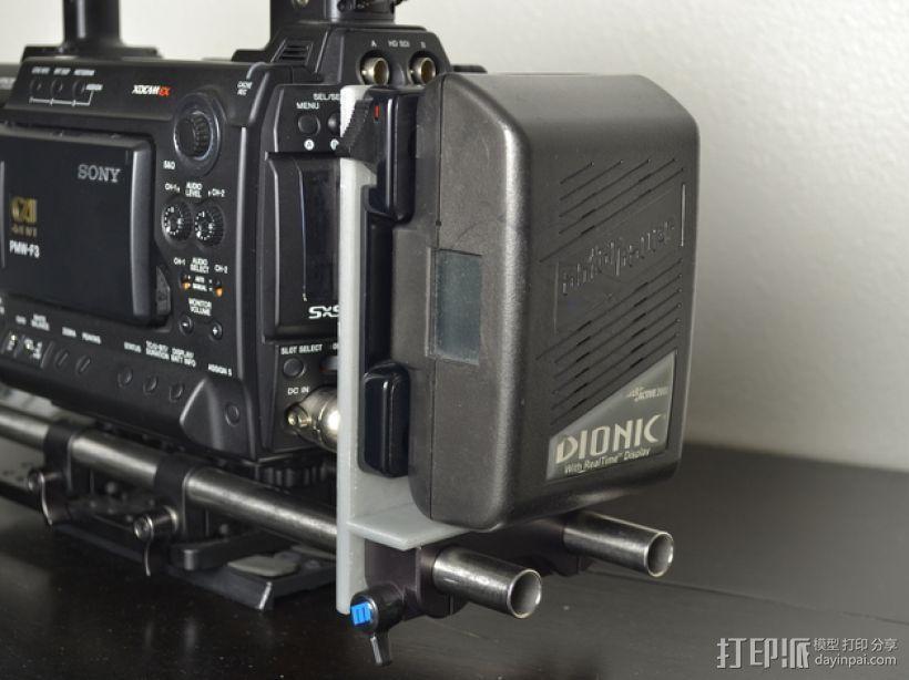 15mm电池架 3D打印模型渲染图