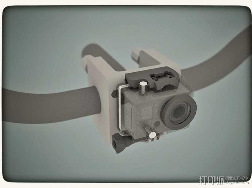 Gopro适配器 3D打印模型渲染图