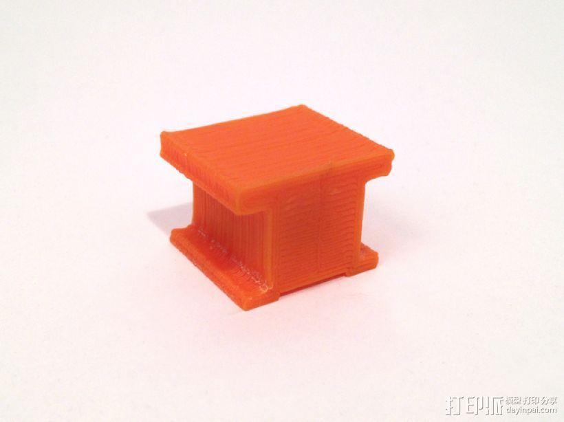 工字型适配器 3D打印模型渲染图