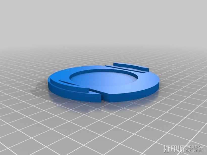 镜头盖 3D打印模型渲染图