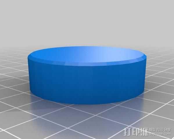 音量旋钮 3D打印模型渲染图