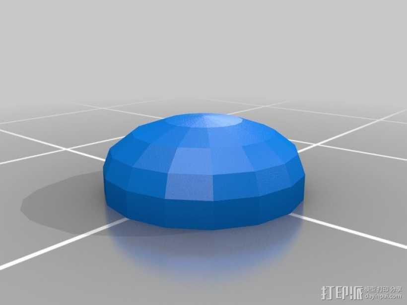 apple底盘垫 3D打印模型渲染图