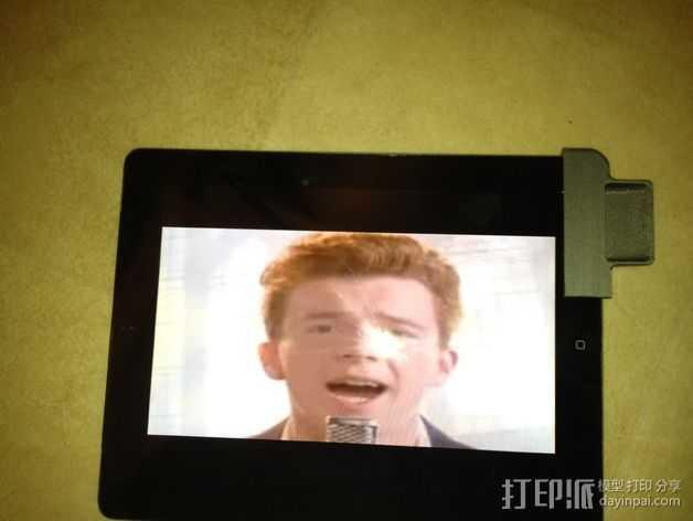 iPad 2 扩音器 3D打印模型渲染图