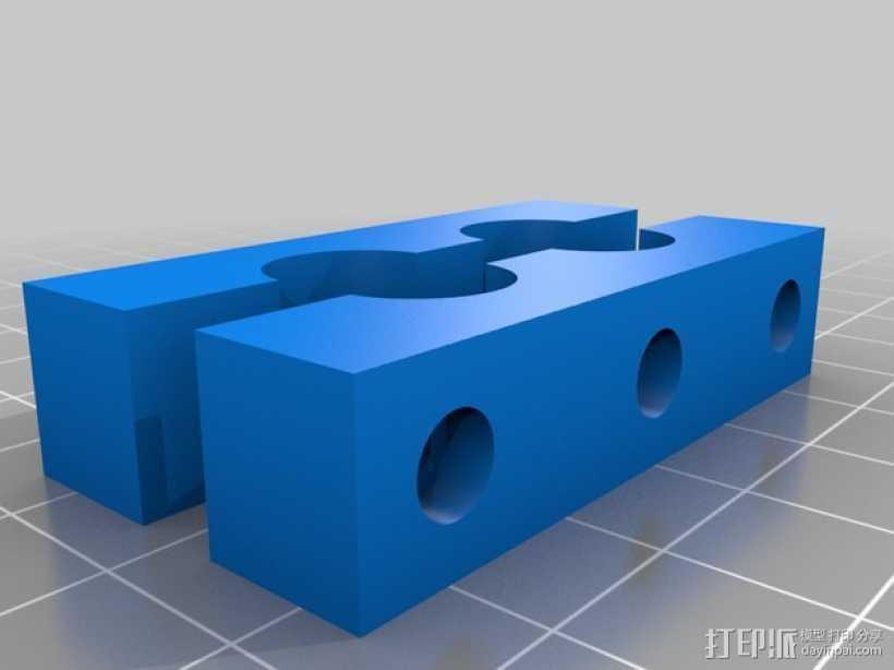 Fanatec适配器 3D打印模型渲染图