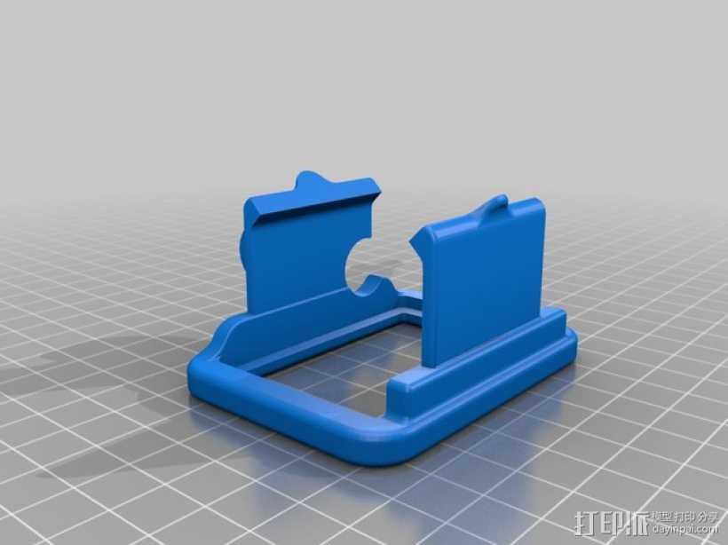 GoPro Hero 2 支架 3D打印模型渲染图