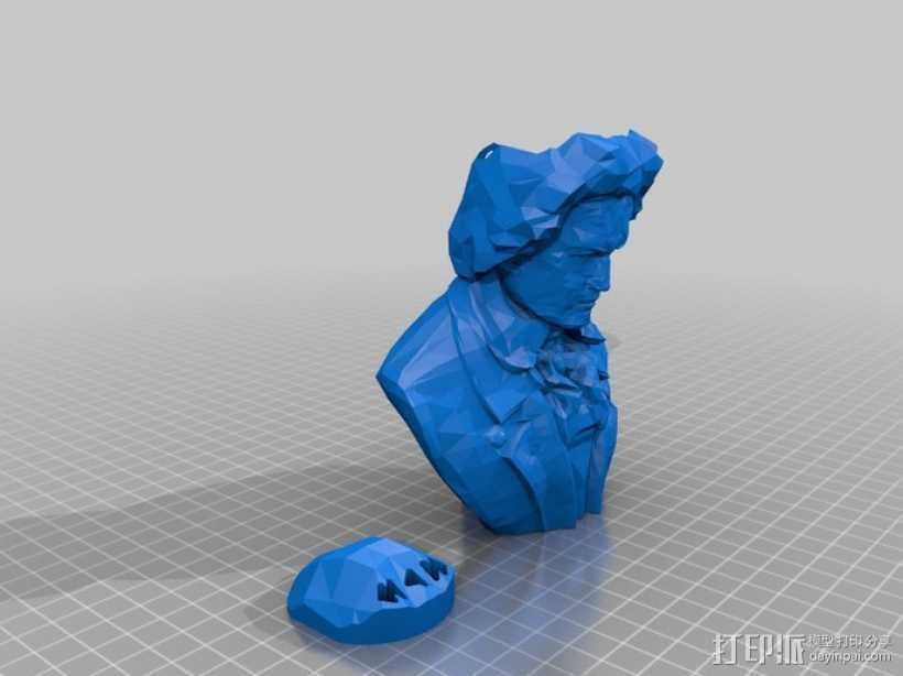 贝多芬摆件 3D打印模型渲染图
