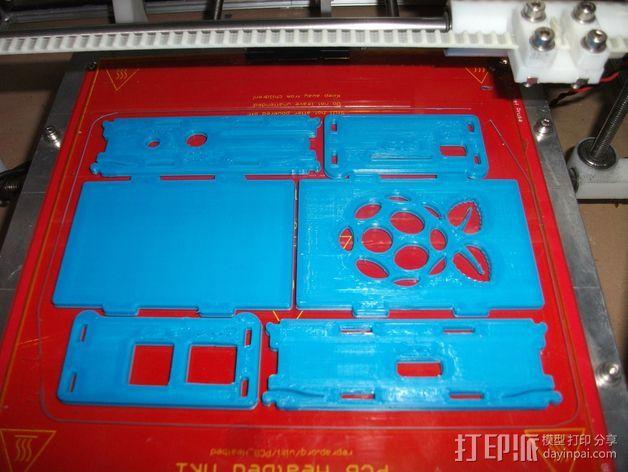 Raspberry Pi保护壳 3D打印模型渲染图