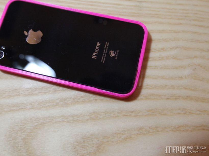 IPhone 4 手机壳 3D打印模型渲染图