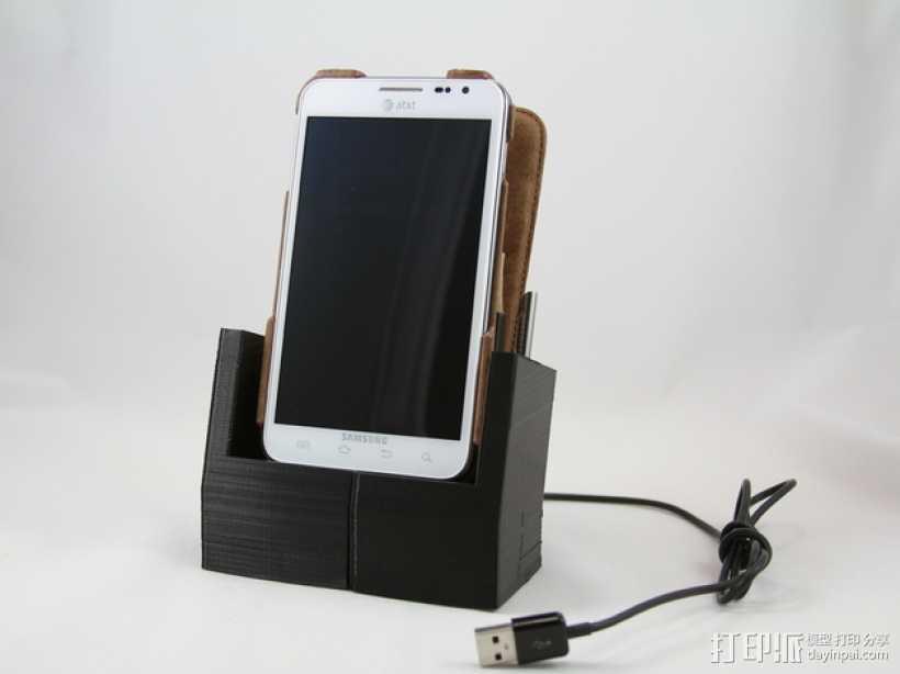 Galaxy Note 手机座 3D打印模型渲染图