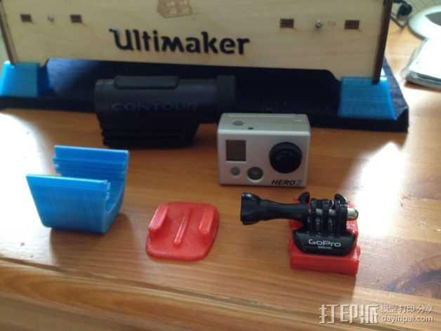 照相机挂载 3D打印模型渲染图