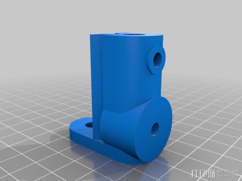 摄像机挂载 3D打印模型渲染图