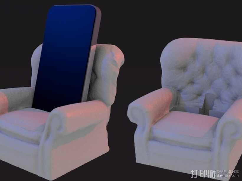 沙发手机座 3D打印模型渲染图