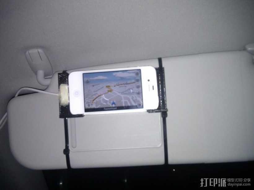 iphone 车载手机座 3D打印模型渲染图