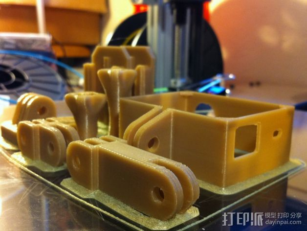 GoProHD适配器 3D打印模型渲染图
