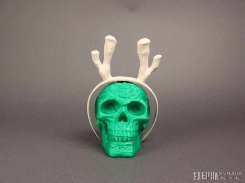 驯鹿帽子 3D打印模型渲染图