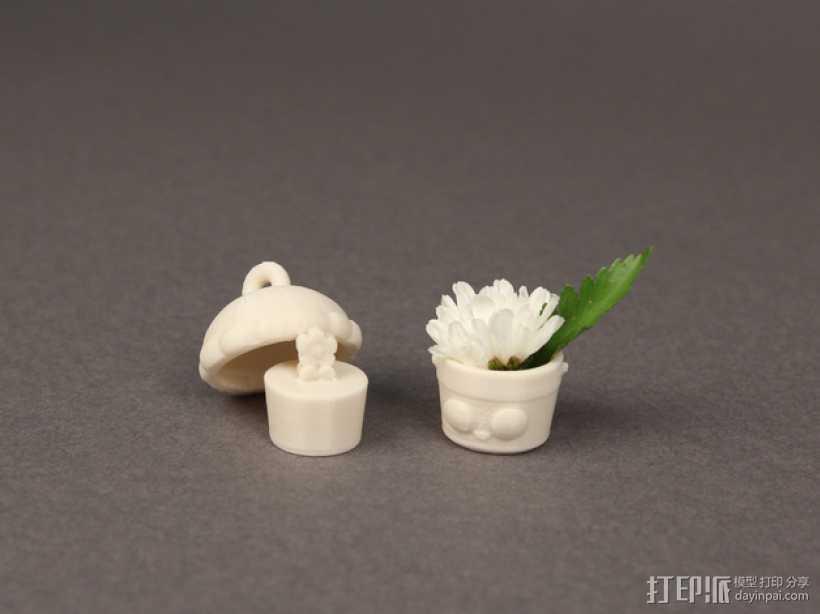 花盆吊坠 3D打印模型渲染图