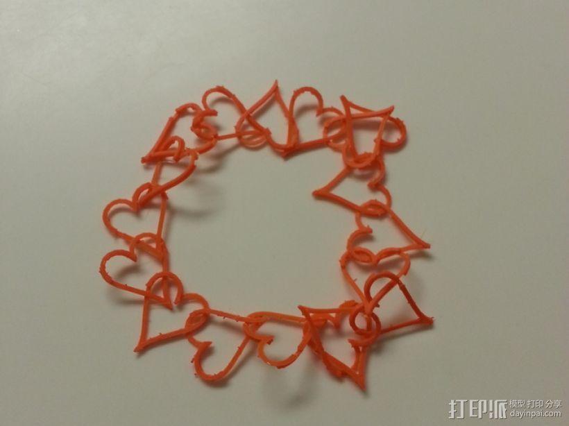 心形锁项链 手镯 3D打印模型渲染图