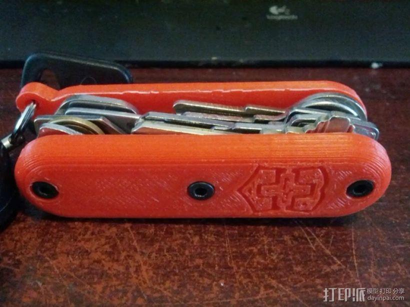瑞士军刀钥匙扣 3D打印模型渲染图