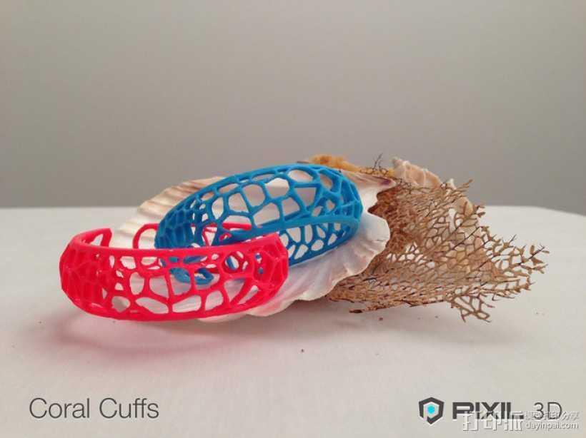 珊瑚手镯 3D打印模型渲染图