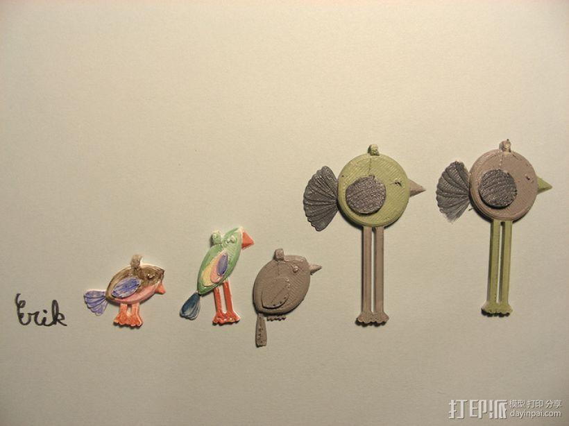 小鸟吊坠 3D打印模型渲染图