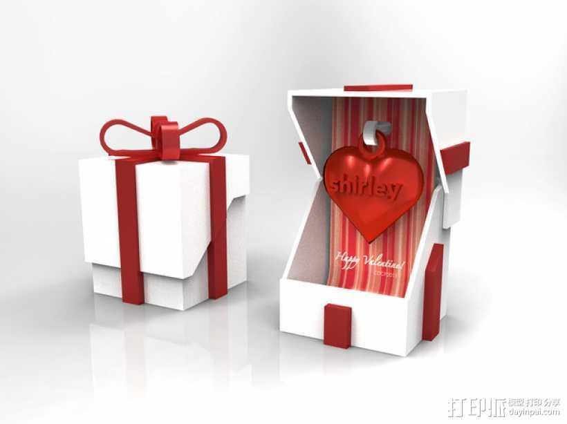 情人节礼品盒 3D打印模型渲染图