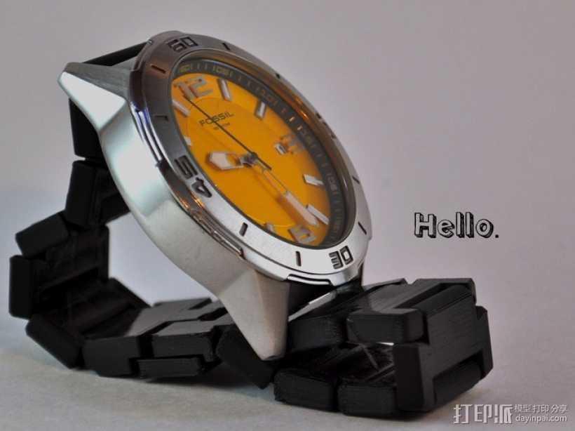 弹簧扣手表带 3D打印模型渲染图